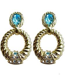 18k Gold Plated Pierced Earrings