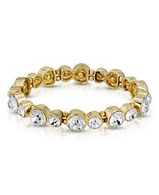 Gold-Tone Clear Crystal Stretch Bracelet