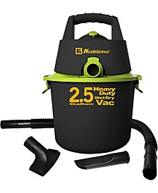 Heavy Duty 2.5 Gallon Wet and Dry Vacuum