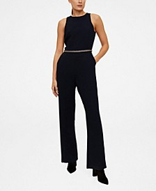 Beaded Detail Waist Jumpsuit