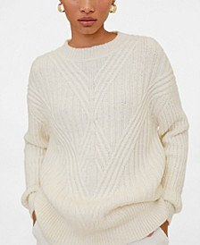 Contrasting Pattern Sweater