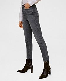 High Waist Slim Jeans