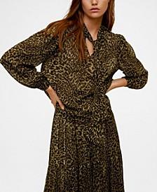 Leopard-Print Flowy Blouse