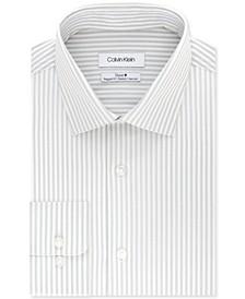 Calvin Klein Men's Classic-Fit Flint Stripe Dress Shirt