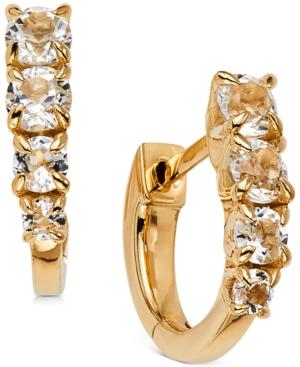 Crystal Huggie Hoop Earrings