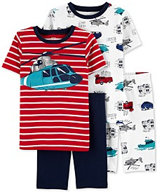 Little & Big Boys 4-Pc. Helicopter Cotton Pajamas Set