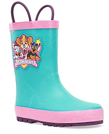 Toddler Girls Paw Patrol Born Brave Rain Boot