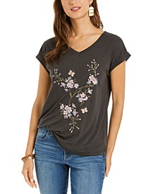 Embroidered V-Neck Top, Created for Macy's
