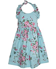 Little Girls Floral Halter Dress