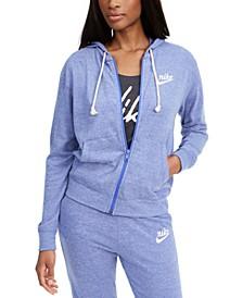 Women's Sportswear Gym Vintage Zip Hoodie