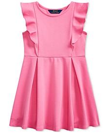 Toddler Girls Ruffled Stretch Ponte Dress