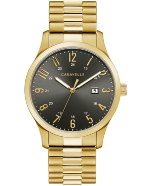 Men's Gold-Tone Stainless Steel Expansion Bracelet Watch 40.2mm