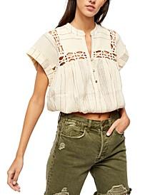 Cedar Lace Pullover Top