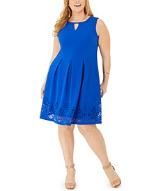 Plus Size Keyhole Fit & Flare Dress