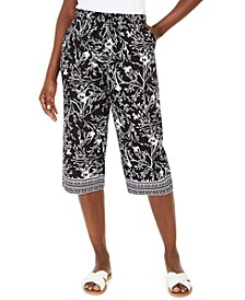 Printed Capri Pull-On Pants, Created for Macy's