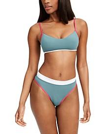 Juniors' Colorblocked Bikini Top & Bottoms