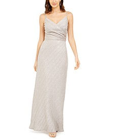 Stretch Metallic Crossover Gown