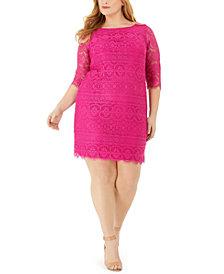 Jessica Howard Plus Size Lace Sheath Dress