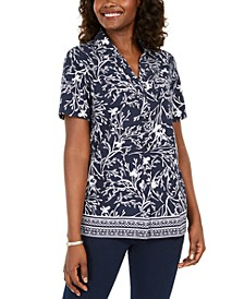 Floral-Print Button-Up Shirt, Created for Macy's