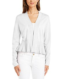Petite Peplum Cardigan Sweater, Created for Macy's