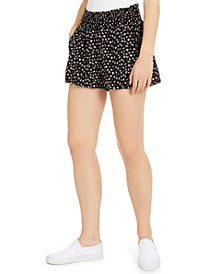 Juniors' Floral-Printed Smocked-Waist Shorts