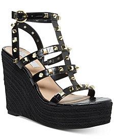 STEVEN NEW YORK Sallina Studded Platform Wedge Sandals