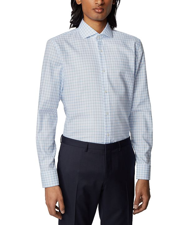 Hugo Boss BOSS Men's Jason Pastel Blue Shirt