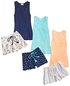 Tank & Printed Pajama Shorts Collection, Created for Macy's
