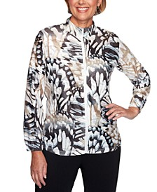 Classics Abstract Butterfly Printed Jacket
