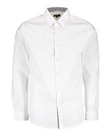 Mens Long Sleeve Solid Slim Fit Dress Shirts