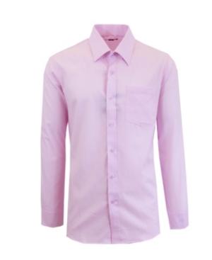 Men's Long Sleeve Solid Dress Shirt
