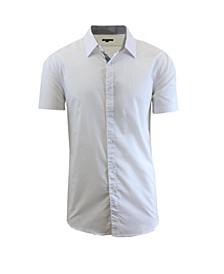 Men's Slim-Fit Short Sleeve Solid Dress Shirts