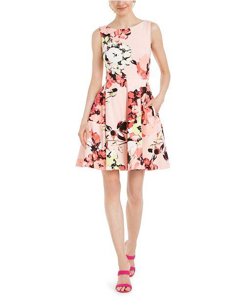 Taylor Floral Scuba Fit & Flare Dress