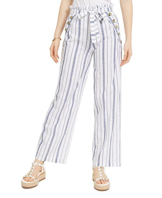 Derek Heart Juniors' Striped Belted Sailor Pants