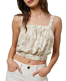 O'Neill Juniors' Holly Printed Crop Top