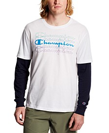 Men's Layered-Look Long-Sleeve T-Shirt