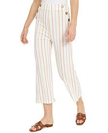 Derek Heart Juniors' Striped High-Rise Cropped Sailor Pants