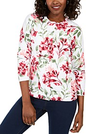 Simek Floral-Print Button Cardigan, Created for Macy's