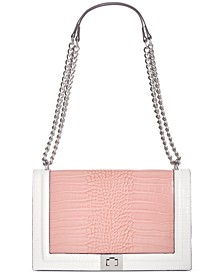 INC Ajae Croco-Colorblock Flap Crossbody, Created for Macy's
