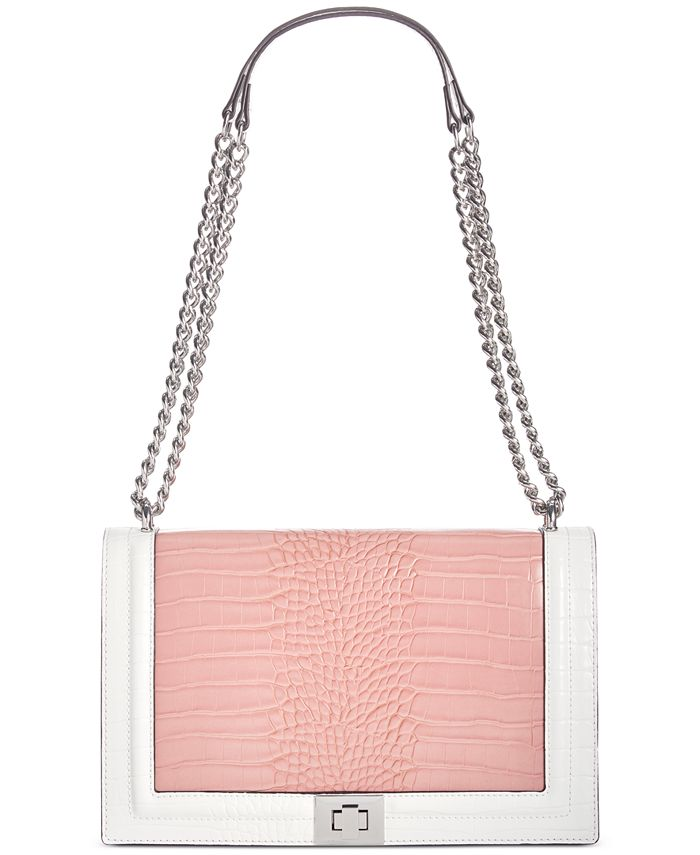 INC International Concepts - Ajae Croco-Colorblock Flap Crossbody