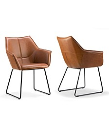 Set of 2 Amna Arm Chair with Metal Legs