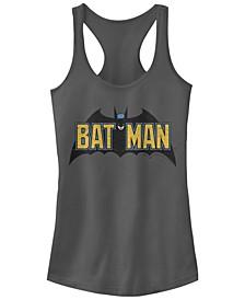 DC Batman Classic Text Bat Logo Women's Racerback Tank