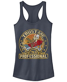 Looney Tunes Wile E. Coyote Trust Me I'M A Professional Women's Racerback Tank