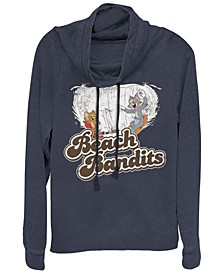 Tom And Jerry Retro Distressed Beach Bandits Cowl Neck Women's Pullover Fleece
