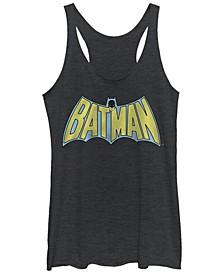DC Batman Retro Cape Logo Tri-Blend Women's Racerback Tank