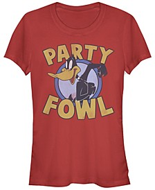 Looney Tunes Daffy Duck Party Fowl Women's Short Sleeve T-Shirt