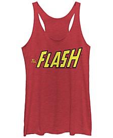 DC The Flash Text Logo Tri-Blend Women's Tank