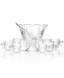 Drinkware, Dublin Punch Bowl 10 Piece Set