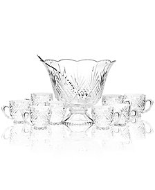 Godinger Drinkware, Dublin Punch Bowl 10 Piece Set