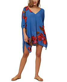 Juniors' Tessa Printed Cover-Up Dress